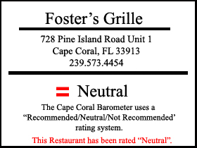 Foster's Grill in Cape Coral - Restaurant Review