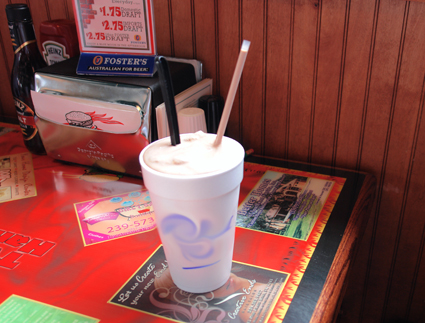 Milk Shake in Offensive Styrofoam