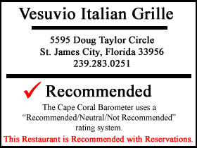 Vesuvio Italian Grille - St. James City Pine Island Review
